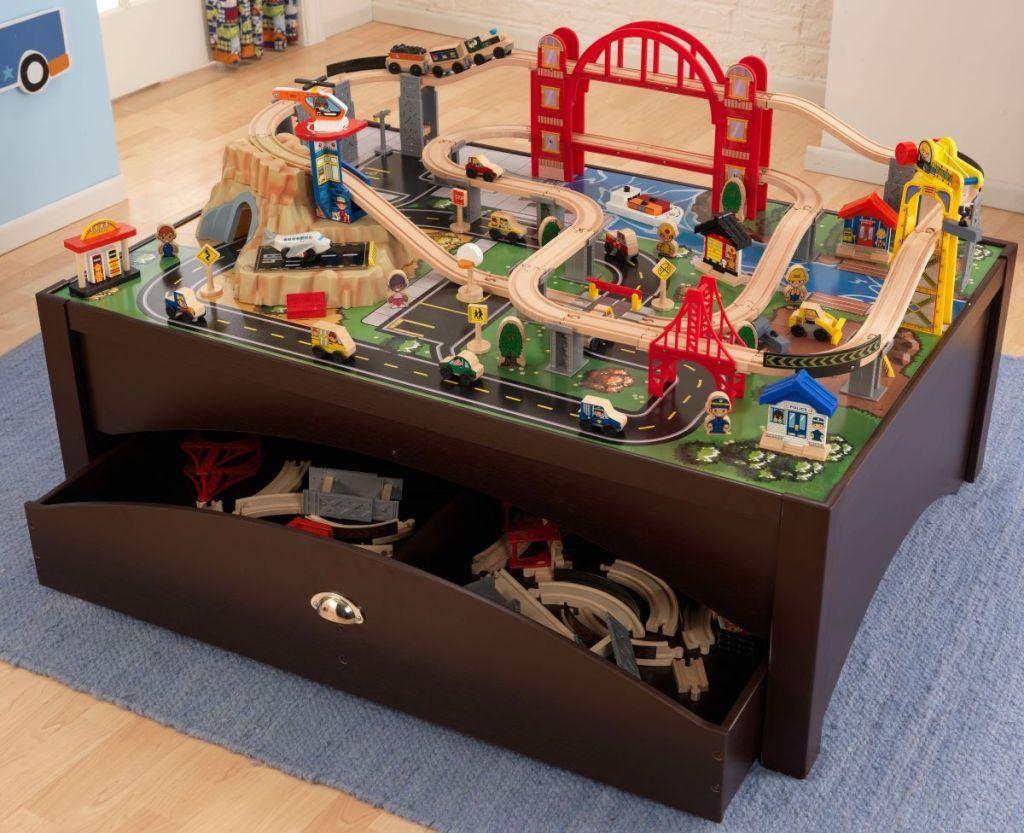 Kidkraft Train Table with storage drawer