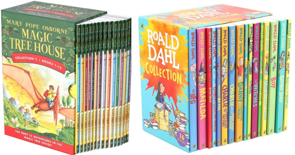 magic tree house and ronald dahl boxed book sets