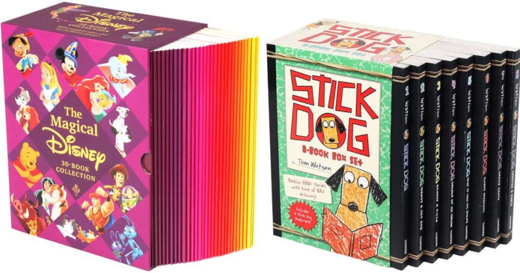 disney kids book box set and stick dog boxed book set