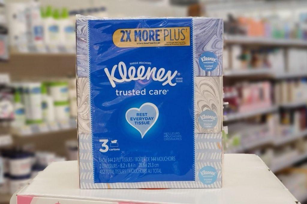 Kleenex FAcial Tissue 3-Pack in store