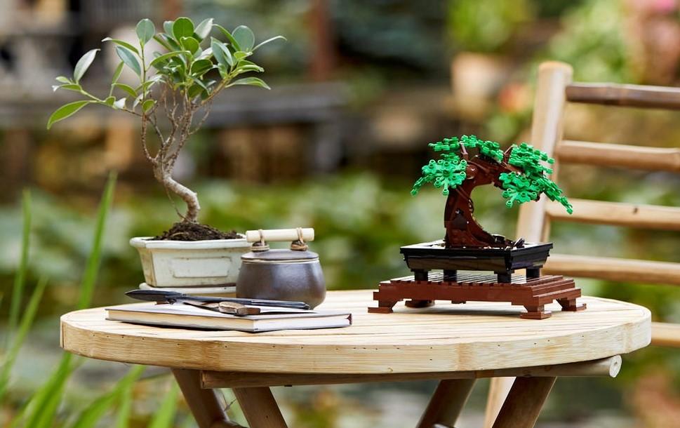 LEGO Bonsai tree next to another tree