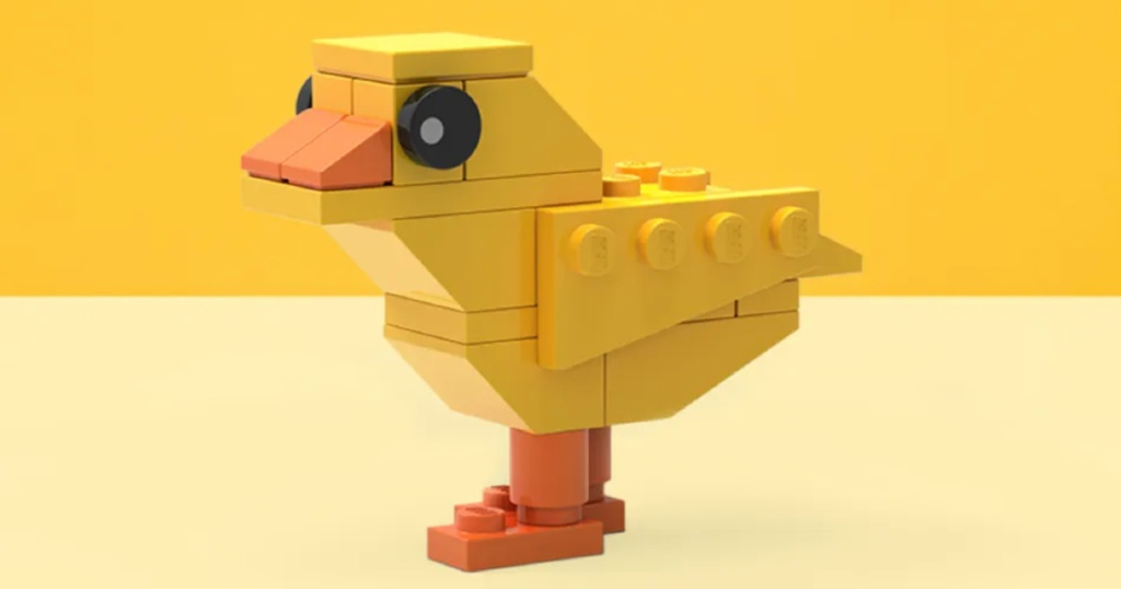 yellow LEGO easter chick
