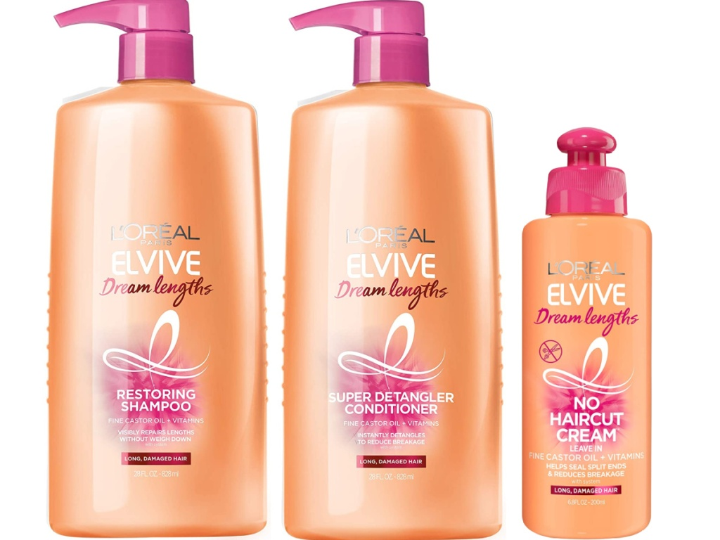 L'Oreal Dream Lengths Shampoon Conditioner and Leave-in conditioner