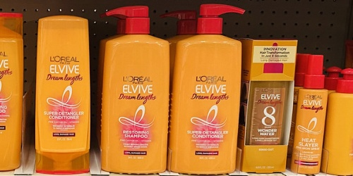 $10 Off $30 L'Oreal Purchase on Amazon | Elvive Hair Care 28oz Bottles Just $4 Each Shipped
