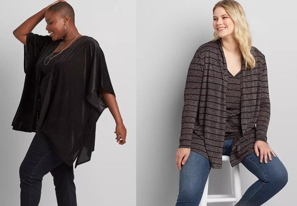 2 women wearing lane bryant apparel