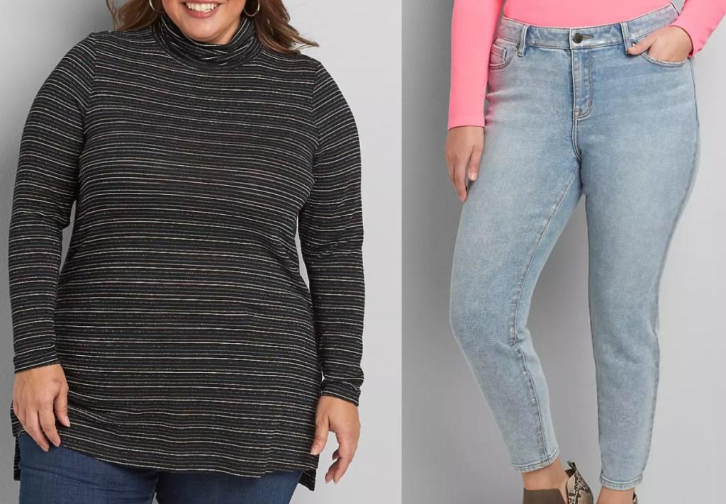 2 women wearing lane bryant clothing