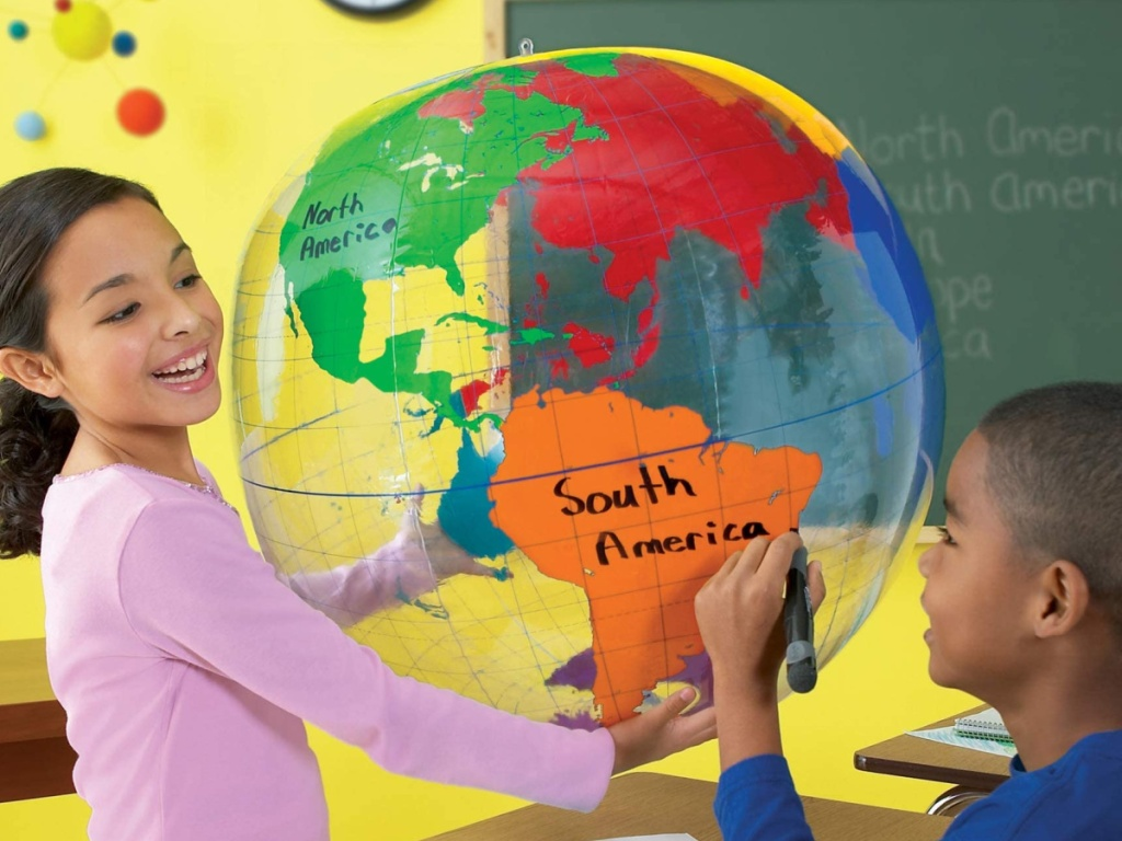 Learning Resources giant inflatable globe