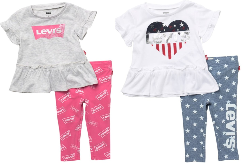 2 baby girl levi's outfits