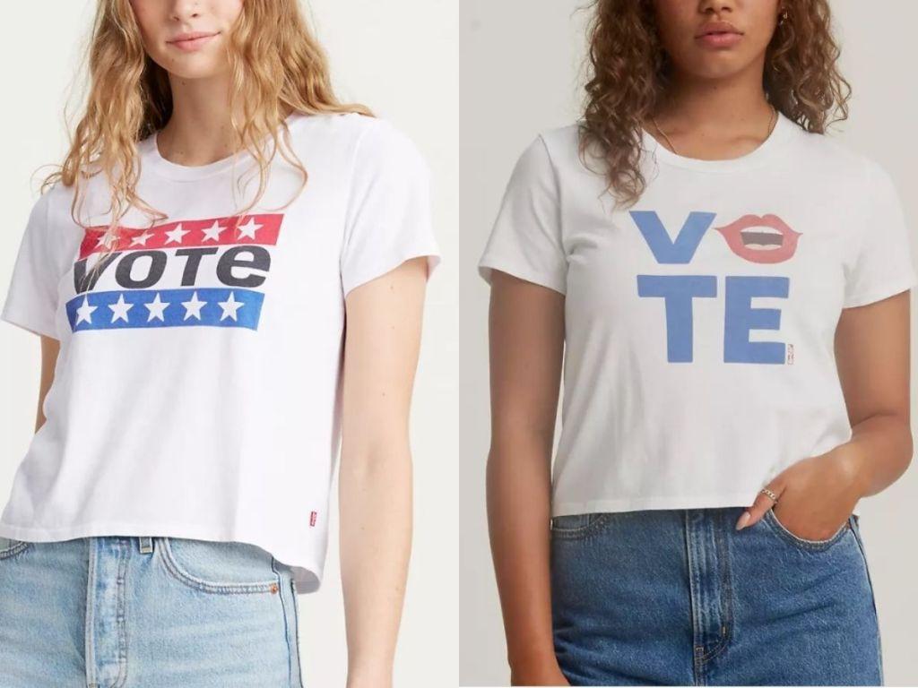 Levi's women's Vote tees