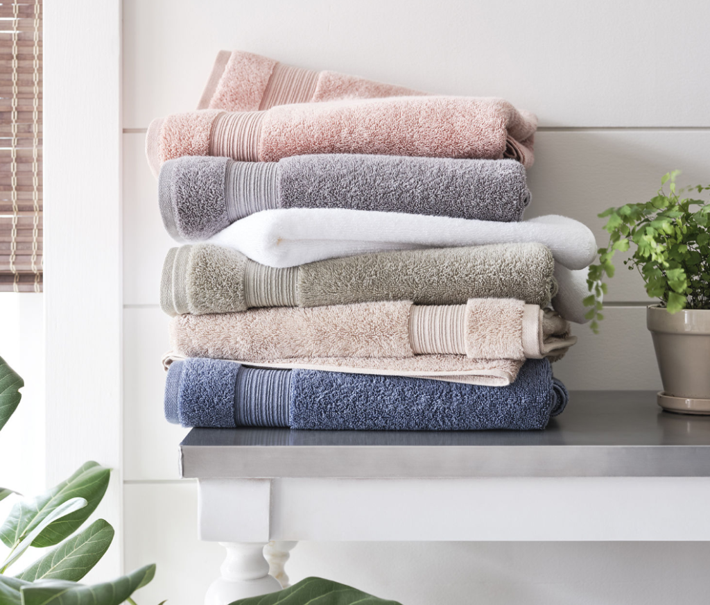 stack of folded towels