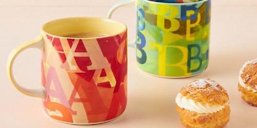 Extra 40% Off Anthropologie Sale Items = Monogram Mug Just $3.57 (Regularly $14)