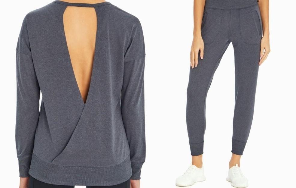 woman wearing a sweatshirt and joggers