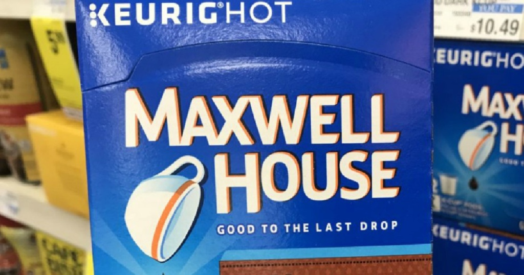 maxwell house coffee k-cup pods