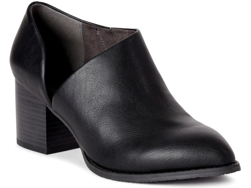 Melrose Ave Vegan Leather Cutout Block Heel Booties