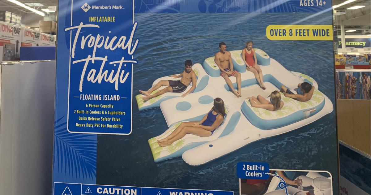 Member's Mark brand inflatable island
