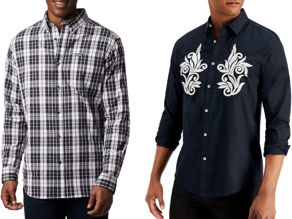 Two Men's Button-down Shirts