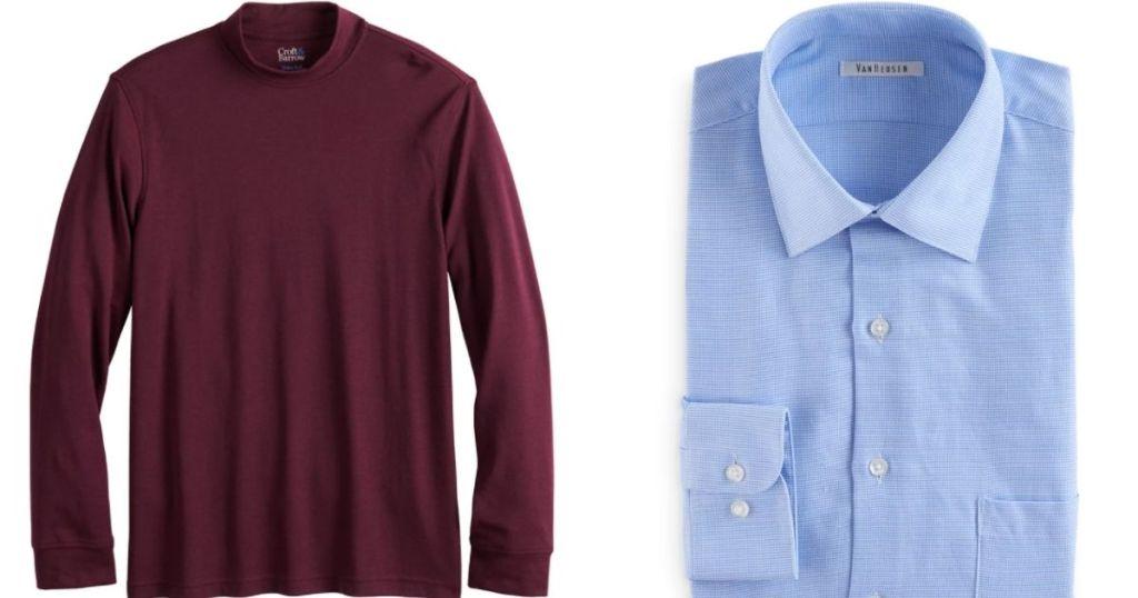two men's shirts