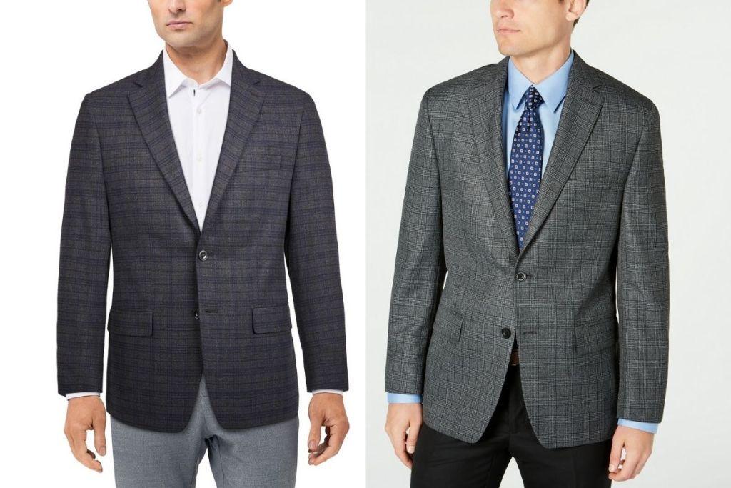 men in 2 Michael Kors Men's Modern-Fit Patterned Blazers