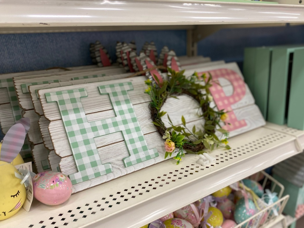 bunny hop sign at michaels