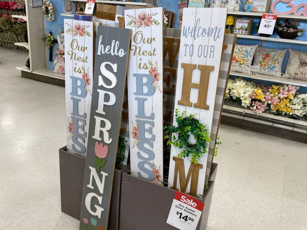 easter and spring welcome signs