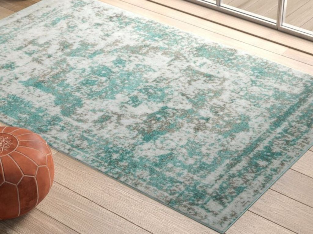 Mistana Brandt Oriental 5x8 Turquoise Area Rug