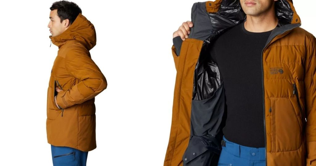 side and inside of a jacket