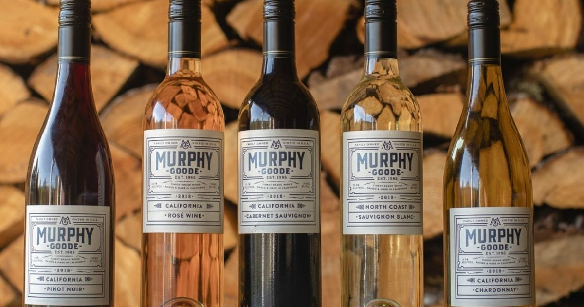 five bottles of Murphy Goode Wine