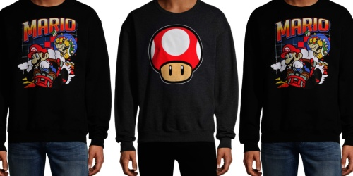 Nintendo Graphic Sweatshirts Only $15 on Walmart.com | Includes Plus Sizes