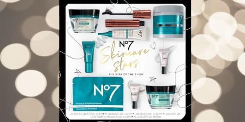 No7 Skincare 9-Piece Gift Set Just $20 on Walgreens.com ($131 Value)