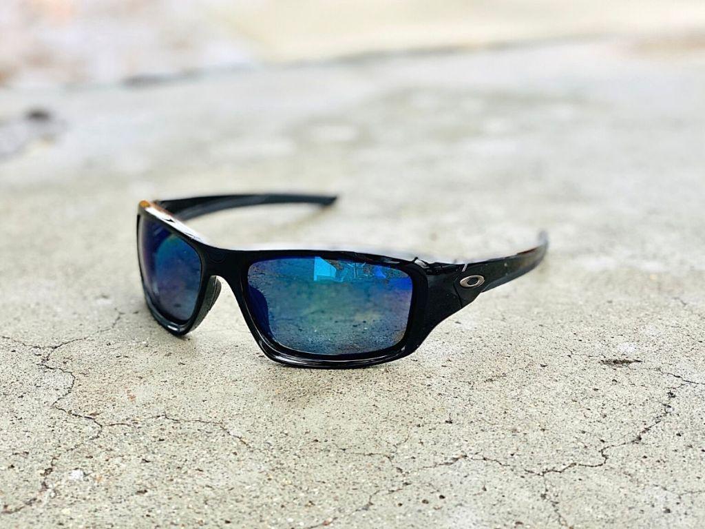 Oakley sunglasses on cement