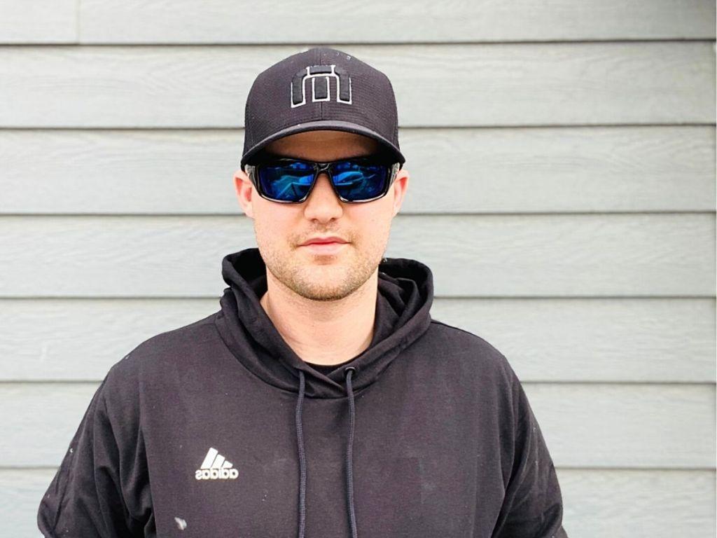 man wearing Oakley sunglasses