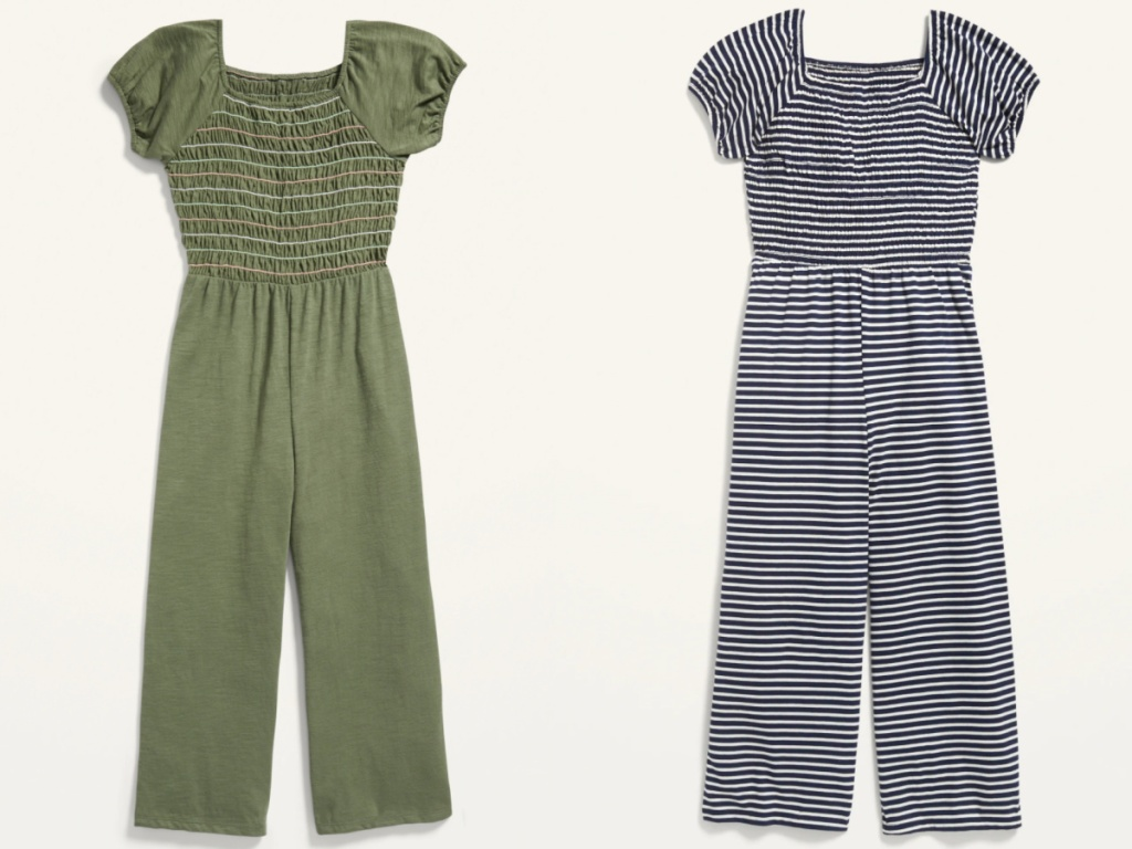2 girls old navy jumpsuits