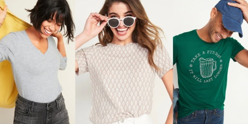 Old Navy Apparel for the Whole Family from $3 (Regularly $13+)