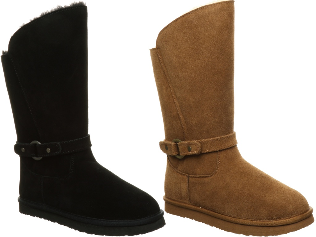 Pawz by Bearpaw Jessica Faux Fur Lined Suede Tall Boot