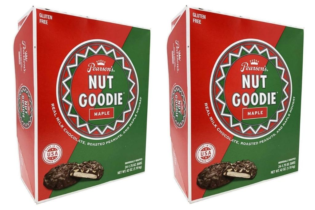 2 boxes of Pearson's Nut Goodie Maple Bars