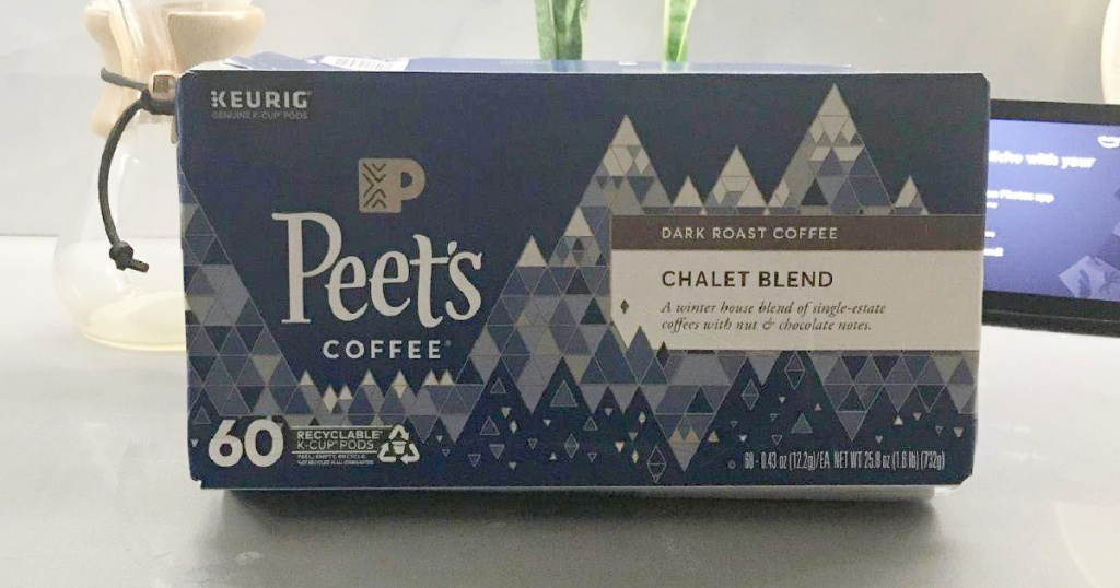 peets coffee chalet blend on counter