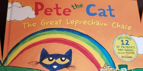 Pete the Cat St. Patrick's Day Hardcover Book Only $5.99 on Amazon (Regularly $11) | Includes Poster, Stickers, & More