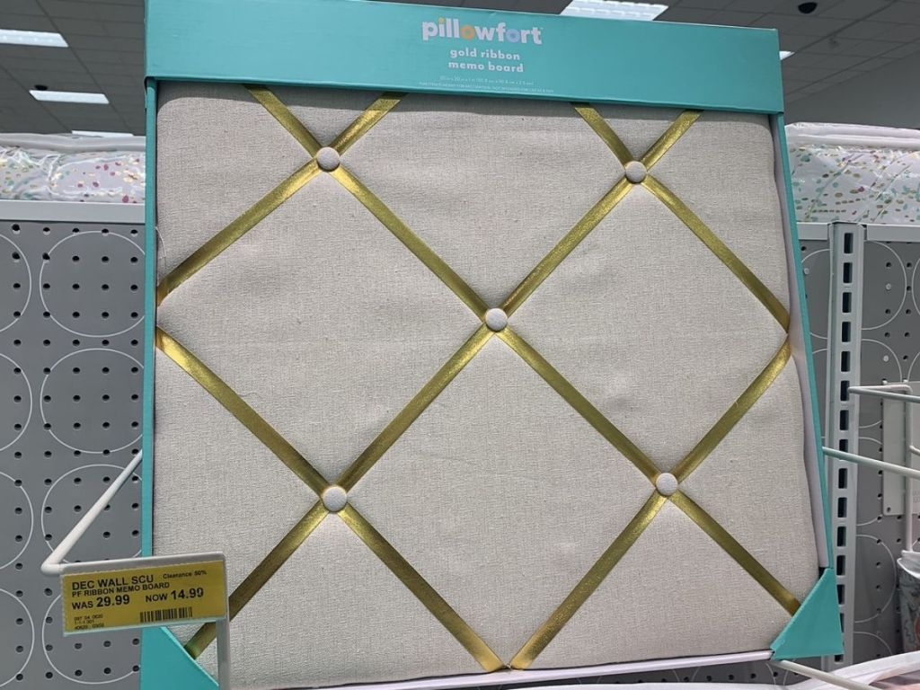 Pillowfort Gold Ribbon Memo Board