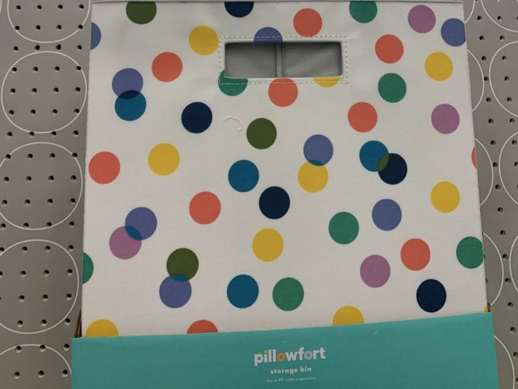 Pillowfort Storage Bin w/ Dots