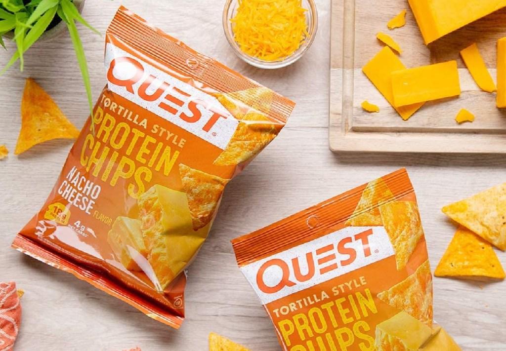 quest nacho flavor protein chips