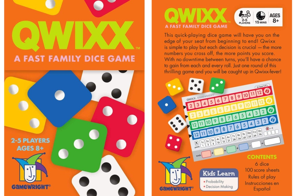 Front and back view of a card game