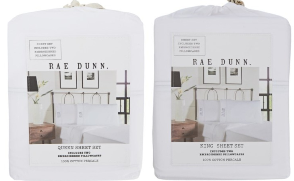 rae dunn queen and king sheet sets