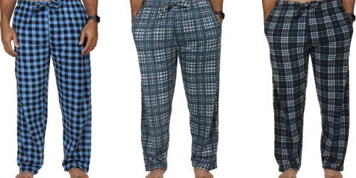 Men's Fleece Pajama Pants 3-Pack Only $19.97 on Walmart.com (Regularly $50)