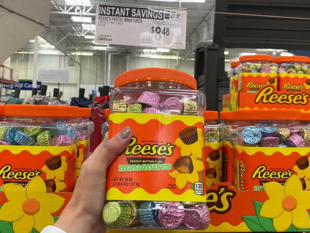 Tub of Reese's Mini Peanut Butter Cups