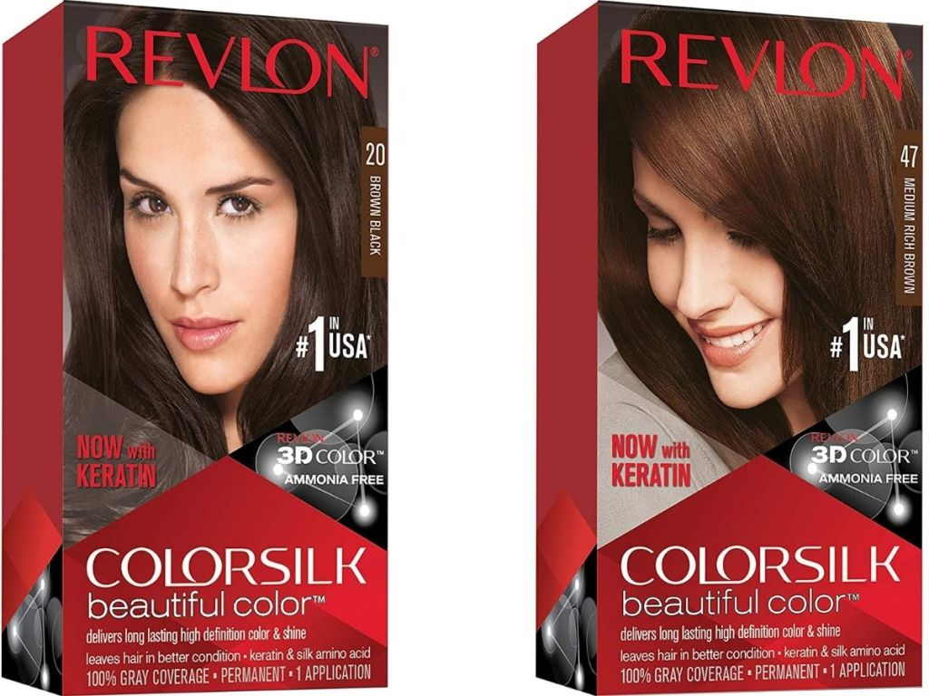 Two boxes of Revlon Colorsilk Hair Dye