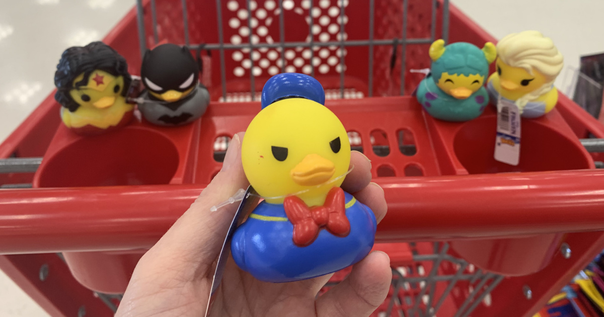 hand holding a donald duck rubber duck at target