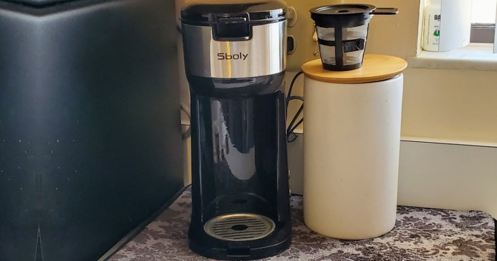 Coffee brewer on counter top