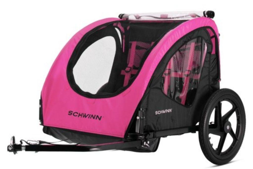 pink Schwinn Shuttle Bike Trailer
