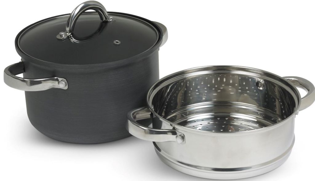 cooker pan with insert