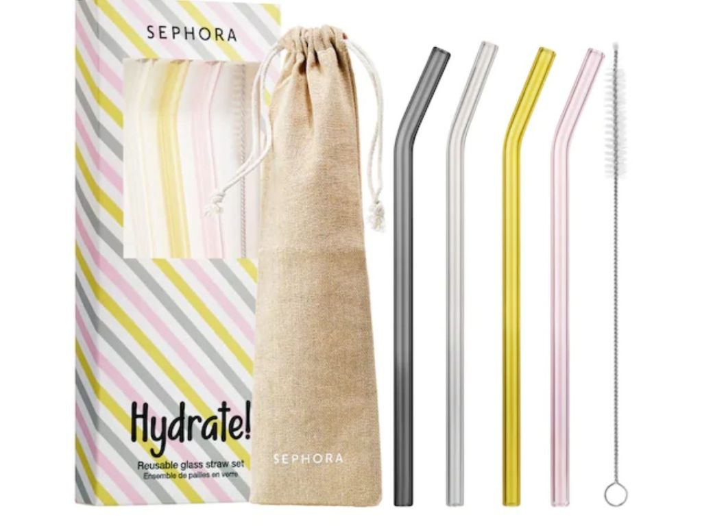 Sephora Hydrate! Glass Straw Set